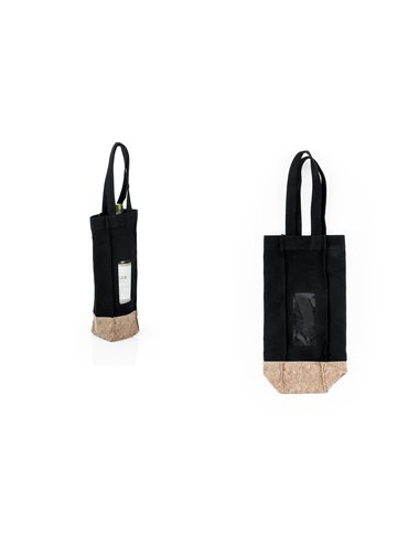 Bolsa para Vinos Gift Costuras Reforzadas - Negro