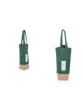 Bolsa para Vinos Gift Costuras Reforzadas - Verde Oscuro