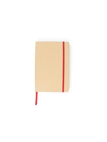 Cuaderno Libreta Ecologica Neptuno Tapa Dura - Rojo