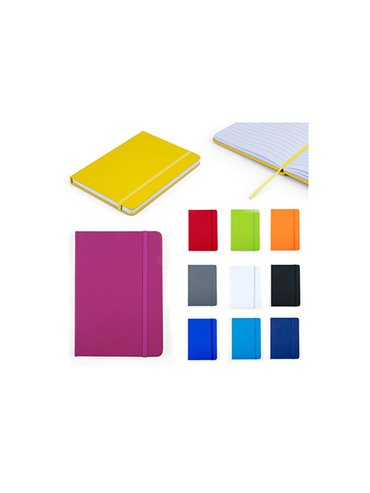 Cuaderno Libreta Saturno Tapa Dura PVC - Blanco