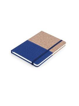 Cuaderno Libreta Colors Tapa Dura Corcho A7 - Azul Rey