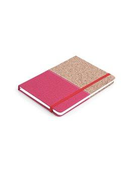 Cuaderno Libreta Colors Tapa Dura Corcho A7 - Rojo