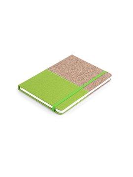 Cuaderno Libreta Colors Tapa Dura Corcho A7 - Verde Limon