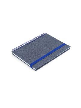 Cuaderno Libreta Doble O Match Argollada A7 - Azul Rey