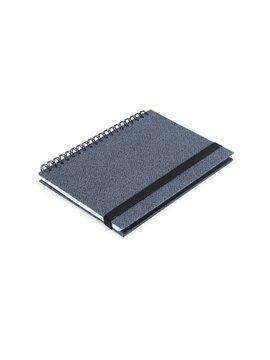 Cuaderno Libreta Doble O Match Argollada A7 - Negro