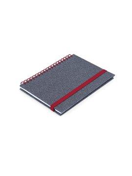 Cuaderno Libreta Doble O Match Argollada A7 - Rojo