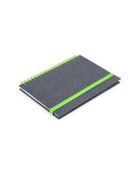 Cuaderno Libreta Doble O Match Argollada A7 - Verde Limon