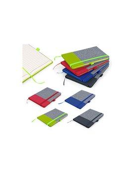 Cuaderno Libreta Bonjour Tapa Dura A5 - Azul Rey
