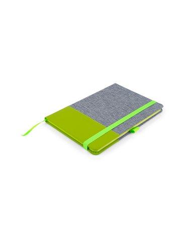 Cuaderno Libreta Bonjour Tapa Dura A5 - Verde Limon