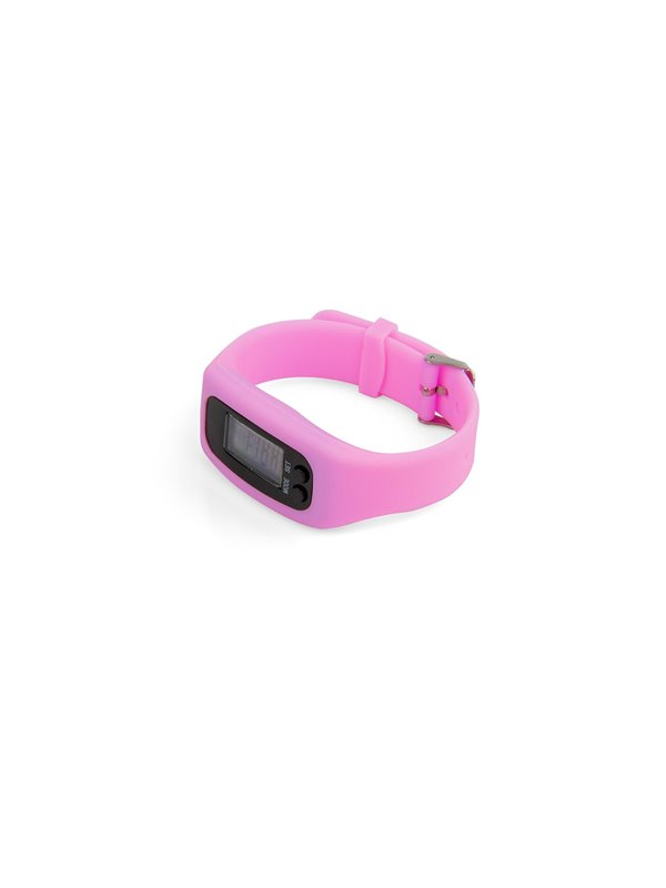 Podometro Digital Walk de Pulsera Con Estuche - Rosado