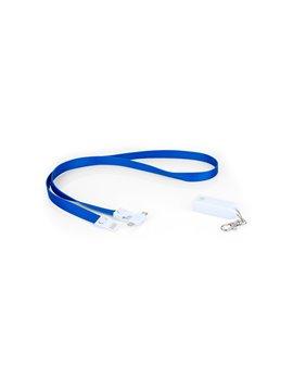 Cable de Carga Diagrama 3 en 1 Cinta para Colgar - Azul