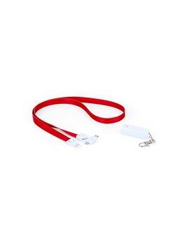 Cable de Carga Diagrama 3 en 1 Cinta para Colgar - Rojo