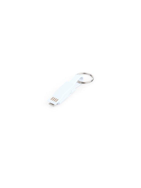 Cable de Carga Continental Magnetico 3 en 1 - Blanco