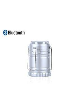 Altavoz Parlante Bluetooth con Linterna Camping - Plateado