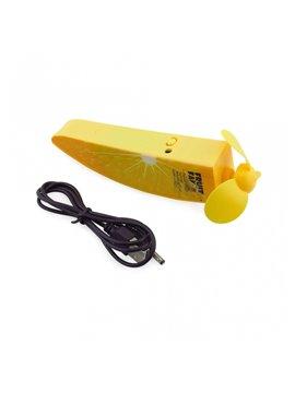 Ventilador Portatil Recargable Forma de Fruta - Amarillo