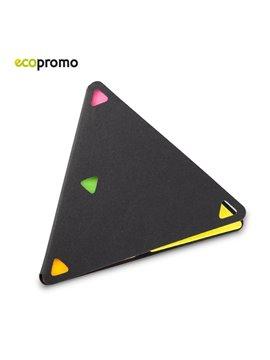 Set de Notas Adhesivas Sticky Set Triangulo - Negro