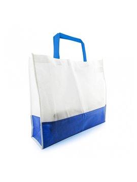 Bolsa de compra bicolor en Cambrel Ecologica - Azul