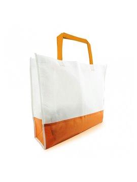 Bolsa de compra bicolor en Cambrel Ecologica - Naranja