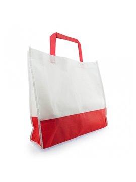 Bolsa de compra bicolor en Cambrel Ecologica - Rojo