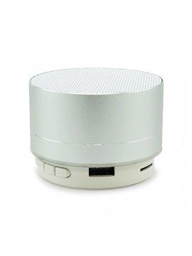 Altavoz Parlante Bluetooth Mini Cilindro - Plateado