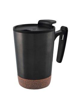 Vaso Mug Kilia 300 ml Doble Pared Base Corcho - Gris