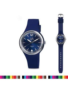 Reloj de pulso Lolli Clock Evolution Mecanismo Japones - Azul