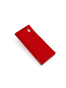 Portadocumentos Passport PVC Alargado Bolsillo Interior - Rojo