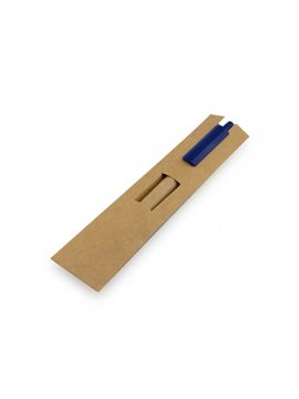 Esfero Boligrafo ecologico con estuche de carton. - Azul