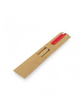 Esfero Boligrafo ecologico con estuche de carton. - Rojo