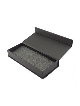 Estuche Elegante Rectangular Large en Carton con Iman - Negro