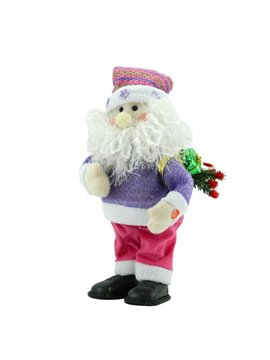 Decoracion Muñeco Figura Papa Noel Santa Claus Navideño Alto - Rojo