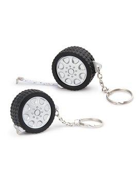 Llavero en forma de llanta con Cinta Metrica Tire 1 M - Negro