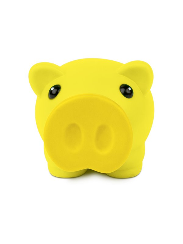 Alcancia Little Piggy Hecha En Pvc Tapa Frontal - Amarillo
