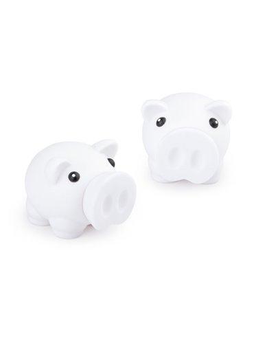 Alcancia Little Piggy Hecha En Pvc Tapa Frontal - Blanco