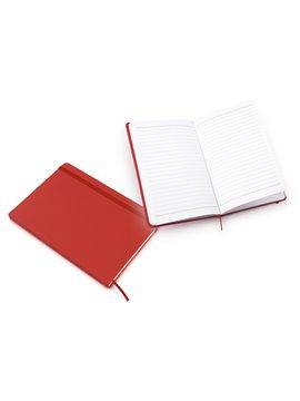 Libreta Ejecutiva cubiertas imitacion cuero A5 - Rojo