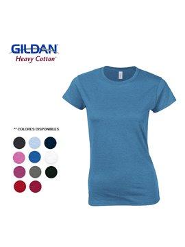 Gildan Camiseta T Shirt Dama Talla Xl Cuello Redondo - Rojo