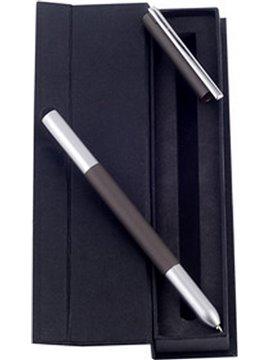 Esfero Boligrafo Touch Estilo Con Estuche Tinta Negra - Negro/Gris