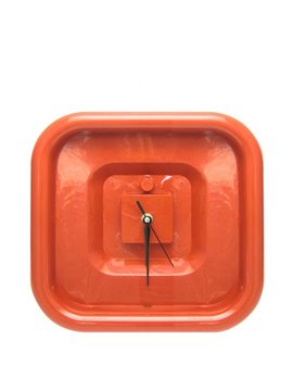 Reloj Pared Cuadrado Feel - Rojo