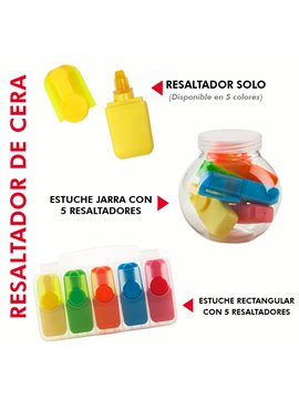 Mini Resaltador De Cera en Plastico No Se Seca - Naranja