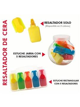 Mini Resaltador De Cera en Plastico No Se Seca - Rosado