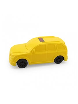 Carro Juguete Pioolli Decorable con Sticker - Amarillo