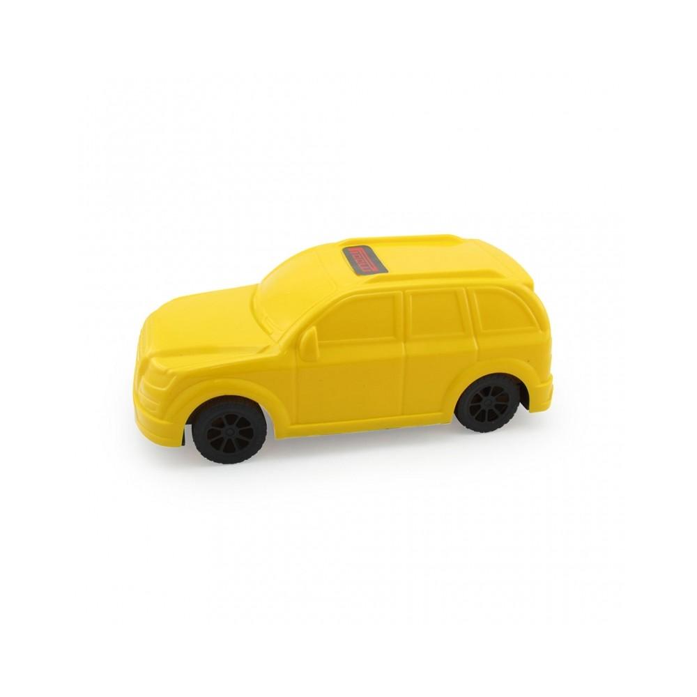 Carro Juguete Pioolli Decorable con Sticker - Amarillo