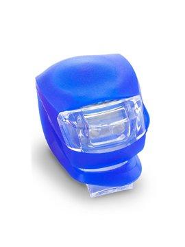 Linterna Para Bicicleta Snake En Silicona Y ABS - Azul