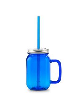 Jarra Plastica Kolors 600 Ml Con Pitillo - Azul