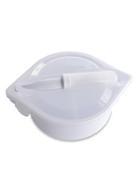 Portacomidas Con Cubiertos Gourmet En Polipropileno - Blanco