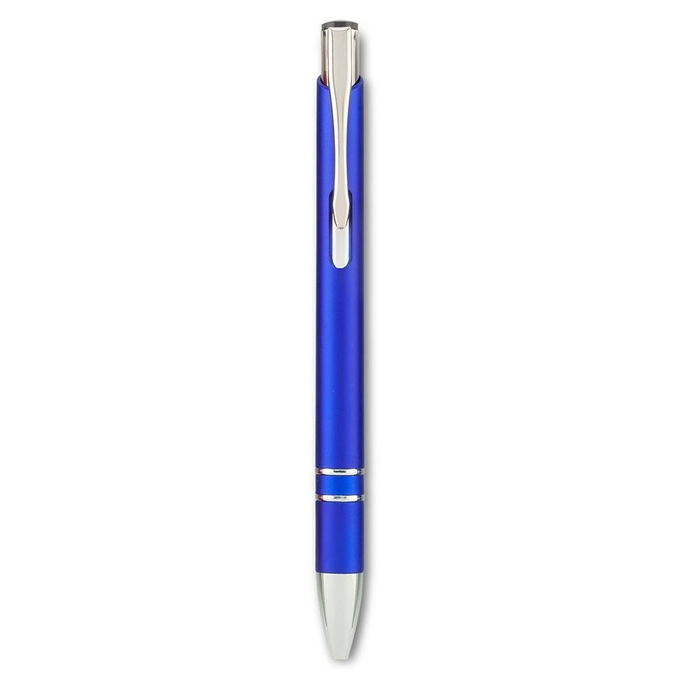 Esfero Boligrafo Plastico Aston Mate Clip Metalico - Azul