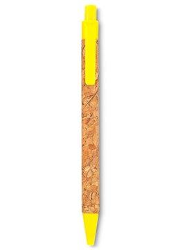 Esfero Boligrafo Plastico Cork Mecanismo Push - Amarillo