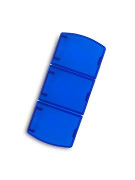 Pastillero Plastico Trio 3 Divisones Internas - Azul