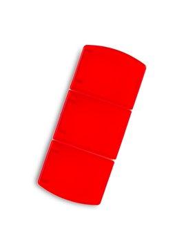 Pastillero Plastico Trio 3 Divisones Internas - Rojo
