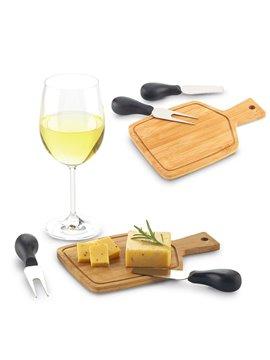 Set De Queso Cajun En Madera y utensilios Metalicos - Bamboo